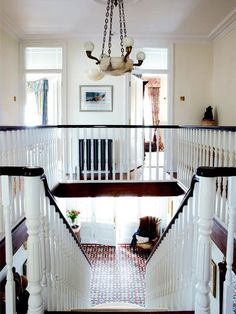 desire to inspire - desiretoinspire.net - A renovated Victorian...stair and floor details