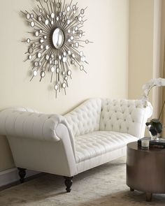 Leala White Leather Sofa - Old Hickory Tannery ( Sofa Leather White Tufted Living room)