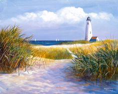 Sea and Lighthouse Coloring Pages | Lighthouse Paintings