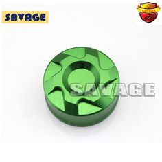 For Kawasaki Z1000SX 12-14, Z1000 10-14, Z750 07-11 Motorcycle Rear Brake Reservoir Cover Cap Green