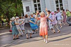 A Russian Babushka dancing in a Park in by NostalgiaPhotographs, $35.00