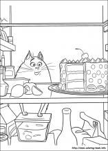 omg too much food secret life of pets coloring pages printable and coloring book to print for free. Find more coloring pages online for kids and adults of omg too much food secret life of pets coloring pages to print. Free Printable Coloring Pages, Coloring Book Pages, Coloring Pages For Kids, Adult Coloring, Kids Colouring, Pet Names For Boyfriend, Pets Movie, Secret Life Of Pets, Animal Birthday