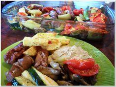 Μανιτάρια, λουκάνικα, λαχανικά ψητά στο φούρνο!