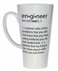 Engineer Definition Tall Size Coffee or Tea Mug