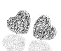 Lovely silver coloured heart earrings  €7.95
