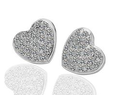 Lovely silver coloured heart earrings  €7.95