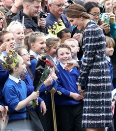 These young royal fans who had donned crowns to meet the Duchess clearly won her over ...