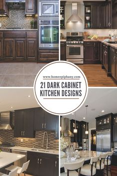 Luxury Kitchen Check out 21 kitchens that all have gorgeous dark cabinets Home Design, Luxury Kitchen Design, Luxury Kitchens, Diy Design, Kitchen Design Gallery, Best Kitchen Designs, Dark Kitchen Cabinets, Kitchen Cabinet Design, Kitchen Appliances