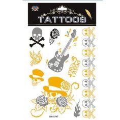 New Design Gold tattoo Fashion Temporary tatoo temporary stickers Temporary Body Art Waterproof Tattoo Pattern