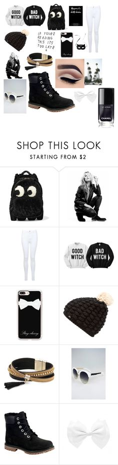 black and white by selmiravehabovicc on Polyvore featuring beauty, Casetify, Superdry, Simons, Anya Hindmarch, Miss Selfridge, Superfine, Timberland and H&M