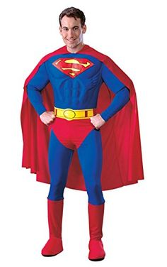 DC Comics Deluxe Muscle Chest Superman Costume #Halloween #costumes #clothing #ad