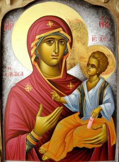 small Icon Merciful or It is truly meet Icon with 2 BLESSING OIL Достойно есть