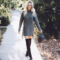 Lauren Busnell Rocking The Dolce Vita Over The Knee Boot: NEELY
