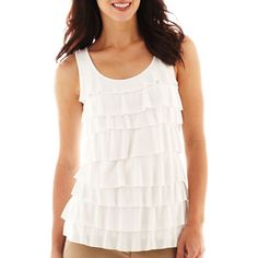 Claiborne Liz Tiered Tank Top | Clothing