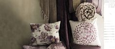 Peony Garden Embroidered Cushion at Laura Ashley