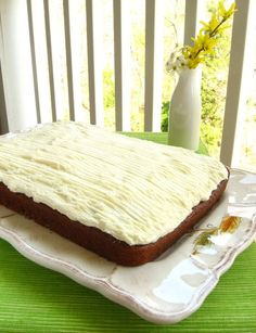 Spanish bar cake. Moist spice cake with raisins. My dad & I loved these! Haven't seen them in the store in ages. Now, I can make one for his birthday!!