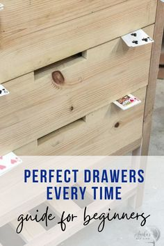 Great tips and tricks! Perfect guide for a beginner! How to build drawers for a beginner! They are not that hard! #AnikasDIYLife #woodworking #woodworkingtips #furniture #howtobuilddrawers #drawers #woodworkingprojects Woodworking Furniture Plans, Woodworking Projects That Sell, Beginner Woodworking Projects, Woodworking Ideas, Wood Projects For Beginners, Wood Working For Beginners, Easy Diy Projects, Project Ideas, Kreg Jig Projects