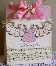 adorable....baby shower card for girl