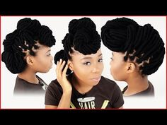 3 Yarn Wrap Hairstyles | How To Style Your Yarn Wraps Tutorial Part 5 of 6 - YouTube