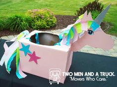 Halloween costumes can be fun, magical and. Check out how easy it is to make a uniquely beautiful unicorn costume out of a box! Unicorn Halloween Costume, Cute Halloween Costumes, Halloween Diy, Toddler Halloween, Cardboard Car, Super Hero Costumes, Diy Box, Preschool Crafts, Diy For Kids