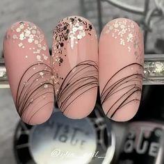 Nail Art Designs Videos, Nail Art Videos, Gel Nail Designs, Glam Nails, Nude Nails, Pink Nail Art, Manicure Y Pedicure, Nail Candy, Beauty Boutique