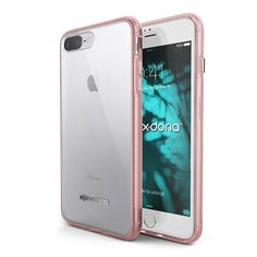 iPhone 8 Plus, iPhone 7 Plus Case, X-Doria ClearVue Series - Protective Shell, Shock-Absorbing Case for Apple iPhone 8 Plus & iPhone 7 Plus, [Rose]