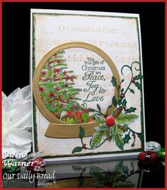 Christmas Snow Globe FS298 by justwritedesigns - Cards and Paper Crafts at Splitcoaststampers
