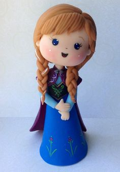 Frozen Cake Toppers  Anna by SDHandicraft on Etsy