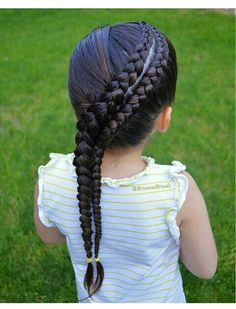 75 Awesome Box Braids Hairstyles You Simply Must Try - Hairstyles Trends Little Girl Braid Hairstyles, Little Girl Braids, Baby Girl Hairstyles, Braids For Kids, Girls Braids, Box Braids Hairstyles, Cool Hairstyles, Gorgeous Hairstyles, Hairstyle Braid