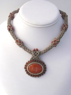 Maid Marion Beadwoven Necklace by njdesigns1 on Etsy, $150.00