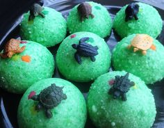 Baby Turtle Egg Bath Bombs  Fizzy Bath Candy by bonbonbathhouse, $12.00 Teenage Mutant Ninja Turtle Party Favor idea!  Also great for Ocean themed birthday party or just for the turtle lover.  You get 8 in a pack and they are all different.  Tub time fun!  These are like Tub Tizzies but without the added chemicals.  So Lush in your tub!