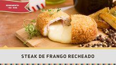 Steak de Frango Recheado  - Receitas de Minuto #306