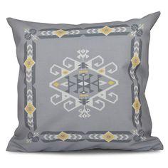 E by Design Happy Hippy Jodhpur Border 3 Decorative Pillow