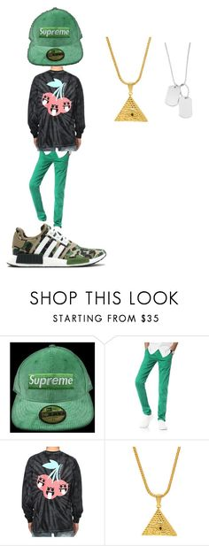 """""""Untitled #47"""" by gerardojuarezcarbajal on Polyvore featuring A BATHING APE, King Ice, Variations, men's fashion and menswear"""