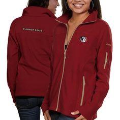 Columbia Florida State Seminoles (FSU) Ladies Give And Go Fleece Full Zip Jacket - Garnet