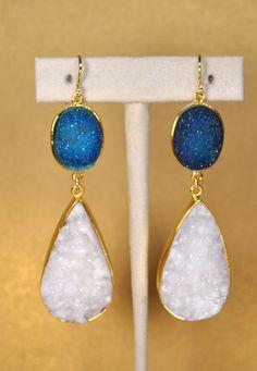 Mothers Day Sale Druzy Earrings  Druzy Jewelry  by MamacitaStudios, $150.00