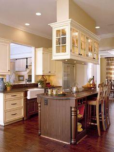 add cabinets over island - Google Search