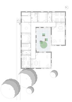 floor plans Gallery of Kinderkrippe Pollenfeld / KÜHNLEIN Architektur - 15 How To Choose The Right F Kindergarten Drawing, Kindergarten Interior, Kindergarten Projects, Kindergarten Design, School Floor Plan, School Plan, Daycare Design, School Design, Architecture Student