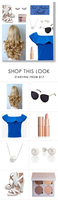 """""""Ted Baker Frill detail Bardot top"""" by polyvorequeen2754 on Polyvore featuring Ted Baker, Chan Luu, Miss KG and tarte"""