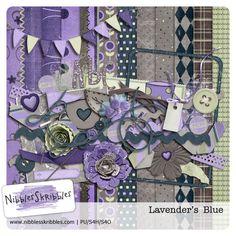 Lavender's Blue digital kit by Nibbles Skribbles available at digital scrapbooking studio. Full price: $3.99 nibblesskribbles.com