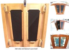 Companionway Doors Teak Custom made for any boat model Cool Boats, Small Boats, Cuddy Cabin Boat, Sailboat Restoration, Used Sailboats, Sailboat Interior, Cabin Doors, Sailboat Living, Yacht Builders