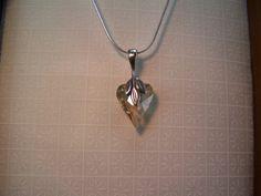 Valentine Crystal Heart Necklace Swarovski by CreatedinTheWoods, $24.95