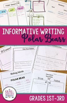 Polar Bear Writing P