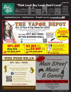 October 2012 Sandpoint Deal It Local Magazine  | Sandpoint, Idaho | www.sandpointliving.com