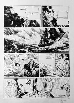 Long John Silver by Mathieu Lauffray - Comic Strip Comic Book Pages, Comic Book Artists, Comic Books Art, Comic Art, Comic Frame, Comic Tutorial, Comic Layout, Bd Comics, Webtoon Comics