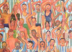 Gran Tribuna , acrylic on canvas, 130 x 95 cm, 2014 (detalle). By Diego Manuel