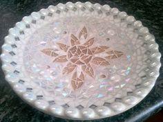 Lace mosaic dish