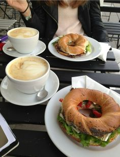 lunch with cappuccino for two