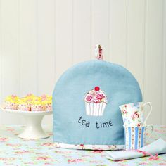 Sew An Embroidered Cupcake Tea Cosy prima.co.uk