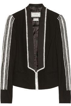 By Malene Birger - Lalan embellished crepe blazer Blazers, Malene Birger, Tomboy Fashion, Top Designer Brands, White Outfits, Fashion Online, Skinny Jeans, My Style, Fashion Design